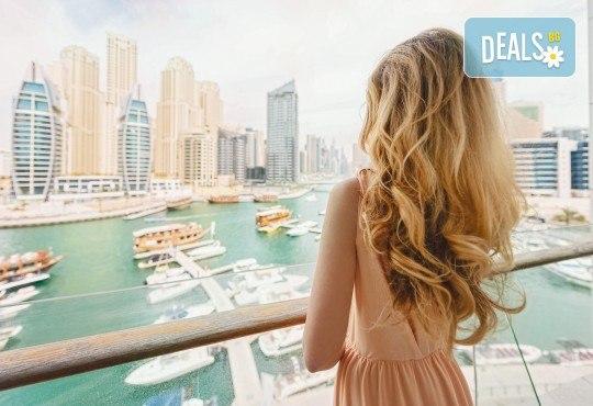 Майски празници в Дубай! 5 нощувки със закуски в Rose Park Hotel 4*, самолетен билет и трансфери, сафари в пустинята и круиз в Дубай Марина - Снимка 1
