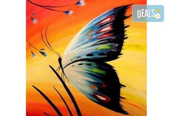 Рисуване на картина с пеперуда за деца и възрастни на 11.04. от 18ч. от Образователна академия Smile - Снимка 1