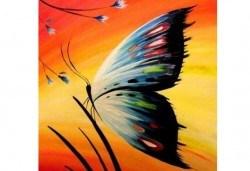 Рисуване на картина с пеперуда за деца и възрастни на 11.04. от 18ч. от Образователна академия Smile - Снимка