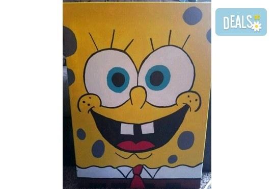 Рисуване на картина Spongebob за деца и възрастни на 02.05. от 18ч. от Образователна академия Smile - Снимка 3