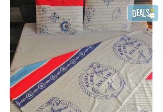 Стилен и качествен спален комплект от 100 % памук-ранфорс с десен по избор от Spalnoto Belio - Снимка 4