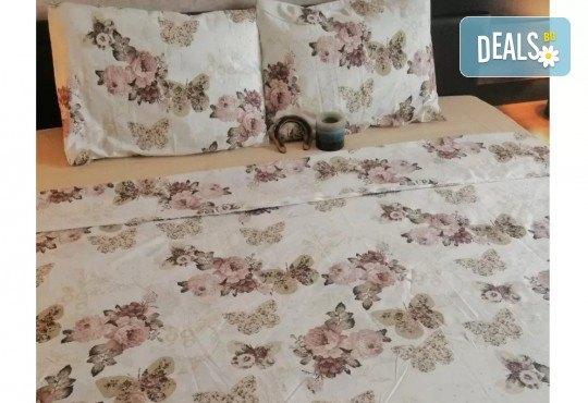 Стилен и качествен спален комплект от 100 % памук-ранфорс с десен по избор от Spalnoto Belio - Снимка 1