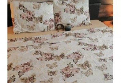 Стилен и качествен спален комплект от 100 % памук-ранфорс с десен по избор от Spalnoto Belio - Снимка