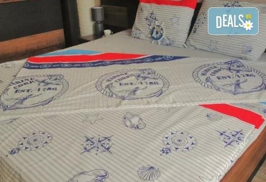 Стилен и качествен спален комплект от 100 % памук-ранфорс с десен по избор от Spalnoto Belio - Снимка 3