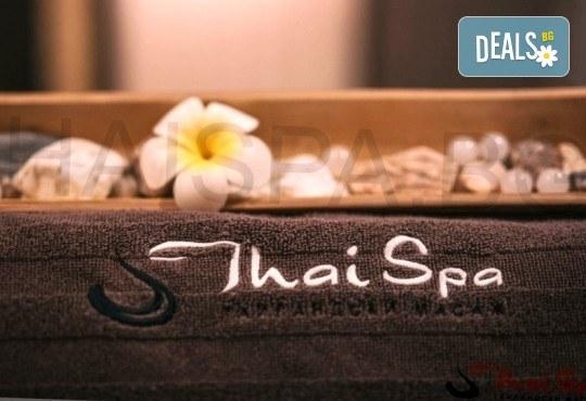115-минутен тайландски обновяващ СПА ритуал Натурален бласък! Масаж, арганова хидратация на цяло тяло и медено-билков детокс за един или двама в новия Thai SPA в The MALL - Снимка 1