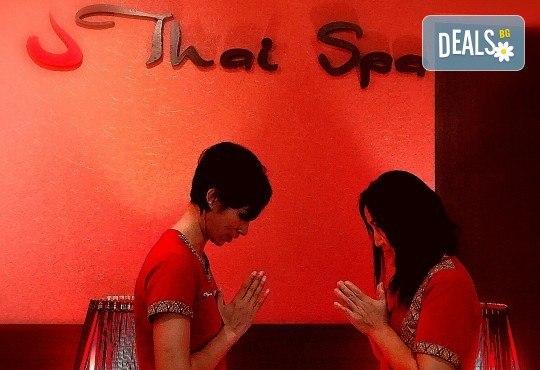 115-минутен тайландски обновяващ СПА ритуал Натурален бласък! Масаж, арганова хидратация на цяло тяло и медено-билков детокс за един или двама в новия Thai SPA в The MALL - Снимка 17