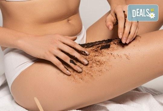 Отслабваща терапия за тяло с кофеинов пилинг, антицелулитен масаж, маска, кавитация и инфрачервена сауна в салон Thai Spa, Bulgaria mall - Снимка 1