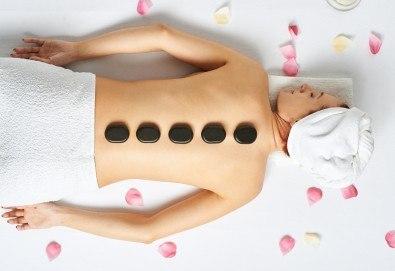 120-минутна ароматна симфония с релаксиращ арома масаж, Hot Stone терапия, рефлексотерапия и йонна детоксикация в GreenHealth - Снимка