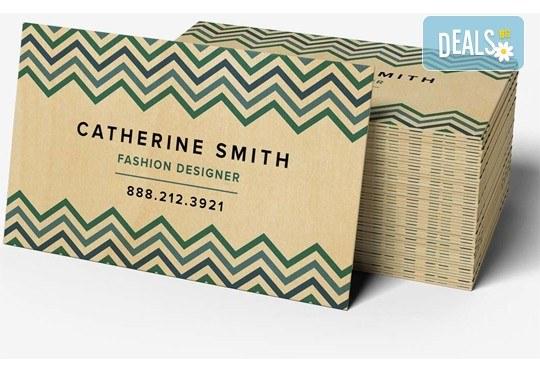 За Вашия бизнес! Печат на едностранни цветни визитки - 100, 500 или 1000 броя, и включена доставка от Web Designs Ltd - Снимка 1