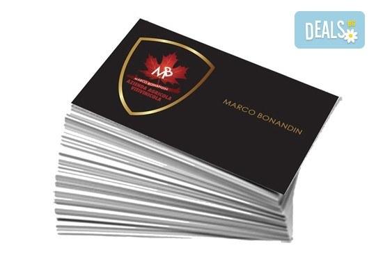 Печат на двустранни цветни визитки - 100, 500 или 1000 броя, и включена доставка от Web Designs Ltd - Снимка 4