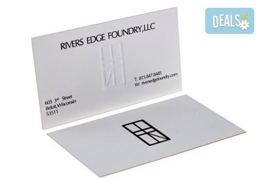 Печат на двустранни цветни визитки - 100, 500 или 1000 броя, и включена доставка от Web Designs Ltd - Снимка 1