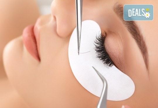 За покоряващ поглед! Поставяне на мигли по метода косъм по косъм в салон за красота Магнолия, кв. Лозенец - Снимка 3