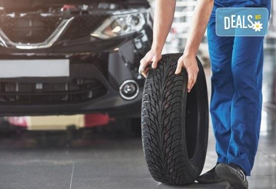 Сваляне, качване, демонтаж, монтаж и баланс на 2 гуми в Мобилен автосервиз Скилев - Снимка 1