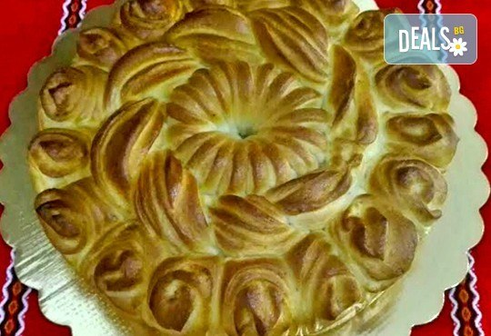 1 или 2 кг. погача, или както нашите баби я наричат - пита, обреден хляб с орнаменти от Работилница за вкусотии Рави + включена доставка - Снимка 7