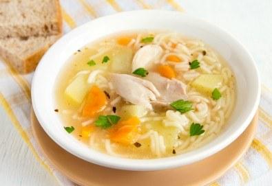 Хапване за цялото семейство! 4 порции супа на деня и джулан в гърне с гарнитура от Кулинарна работилница Деличи - Снимка
