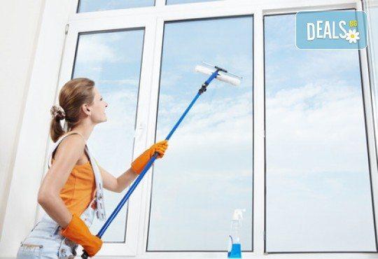 Измиване на прозорци на жилище до 80 или до 100кв.м. от фирма Quickclean