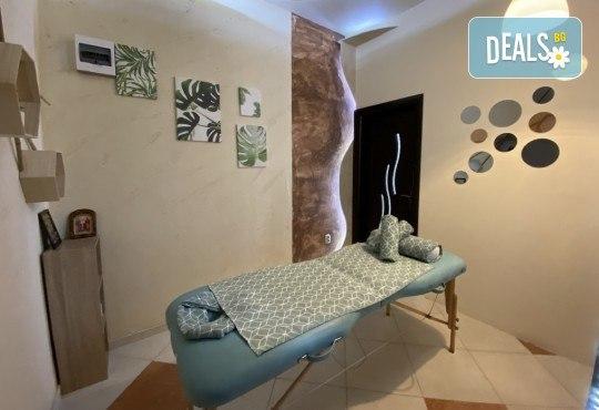 СПА пакет за Него! Лечебен масаж на гръб, масаж Уморени крака и чаша вино в масажно студио Спавел - Снимка 5
