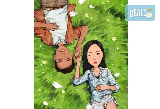 Подарете с любов на любимия човек! Изработка на карикатура с готов дизайн, с рамка и подарък: картичка от Хартиен свят - Снимка 2