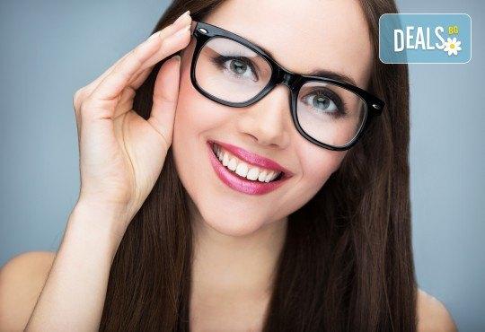Очен преглед с биомикроскопия, авторефрактометрия, оглед на очни дъна, проверка на зрителна острота и изписване на очила при нужда в МЦ Медкрос - Снимка 1