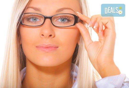 Очен преглед с биомикроскопия, авторефрактометрия, оглед на очни дъна, проверка на зрителна острота и изписване на очила при нужда в МЦ Медкрос - Снимка 2