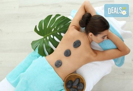 Поглезете се със 120-минутен СПА пакет за пълна релаксация! Масаж на гръб, Hot Stone терапия, точков масаж на глава и бонус: йонна детоксикация в център GreenHealth - Снимка 1