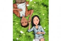 Подарък за любимия човек! Изработка на карикатура с готов дизайн, с рамка и подарък: картичка от Хартиен свят - Снимка