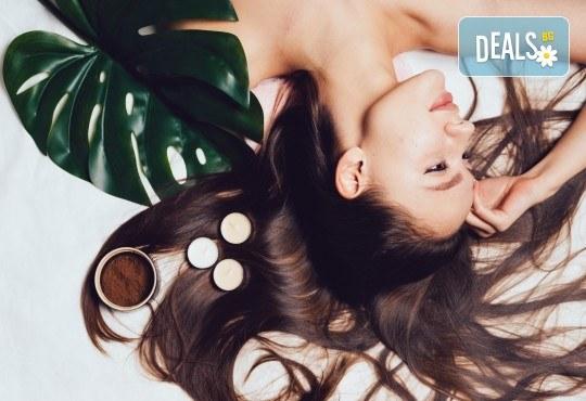 Терапия според типа коса - арганова, кератинова, хидратираща, за боядисана коса, оформяне на прическа със сешоар и бонус: плитка в салон за красота Хармония - Снимка 2