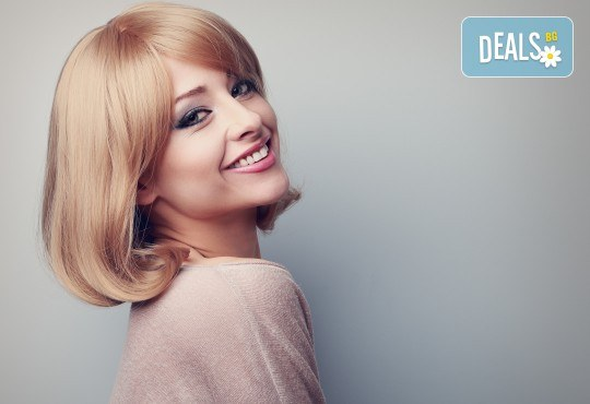 Актуална прическа! Подстригване, терапия по избор и оформяне на косата със сешоар във Фризьорски салон Никол - Снимка 1