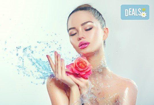 Почистване на лице, кислородна терапия и масаж в студио за красота Velesa