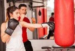 Сила и издръжливост! Пет тренировки по бокс и кикбокс за мъже, жени и деца на стадион Васил Левски в Боен клуб Левски - Снимка