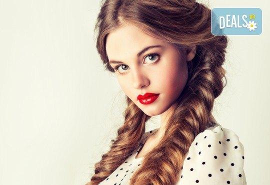 Освежете прическата си! Арганова терапия за коса с инфраред преса, подстригване и плитка или оформяне с преса в студио Relax Beauty&Spa - Снимка 1