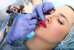 Перфектна във всеки един момент! Перманентен грим на вежди или устни или освежаване на стар перманентен грим в NSB Beauty Center - Снимка