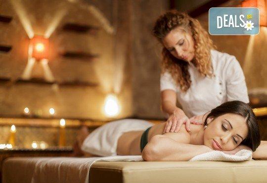 70-минутна кристална терапия - антистрес масаж на цяло тяло, парафинова маска с кристали на стъпала, масаж на лице и скалп с кристална есенция в Студио Модерно е да си здрав - Снимка 1