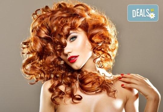 Боядисване с боя на клиента, подстригване, масажно измиване, кератинова терапия с продукти на Brave new hair и оформяне със сешоар в салон Феникс - Снимка 2