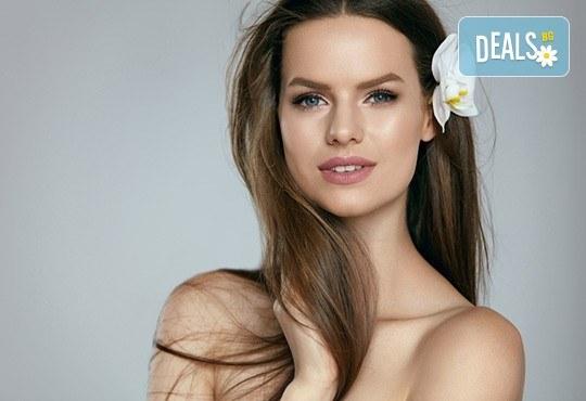Подстригване, масажно измиване и кератинова терапия с професионалните продукти на Brave new hair и оформяне със сешоар в салон за красота Феникс - Снимка 1