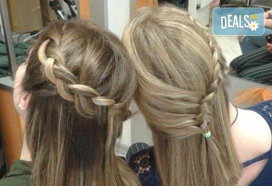 Подстригване, масажно измиване и кератинова терапия с професионалните продукти на Brave new hair и оформяне със сешоар в салон за красота Феникс - Снимка 6
