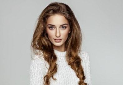 За красива и здрава коса! Подстригване, кератинова или арганова терапия и оформяне на прическа със сешоар в Beauty Salon Tesori - Снимка