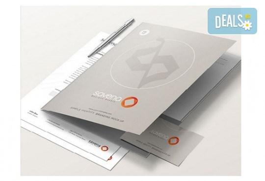 Изработка и печат на 50 броя папки с формат А4 по дизайн на клиента от Хартиен свят - Снимка 1