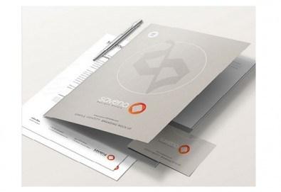Изработка и печат на 50 броя папки с формат А4 по дизайн на клиента от Хартиен свят - Снимка