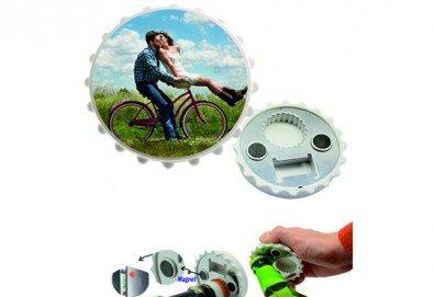 Изработка на магнит-отварачка с индивидуален дизайн на клиента от Хартиен свят - Снимка