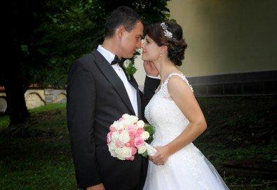 Фото и видеозаснемане на сватбено тържество с включени арт фотосесия, видеоклип, монтаж и подарък: флашка с гравиран надпис по избор от New Line Production - Снимка