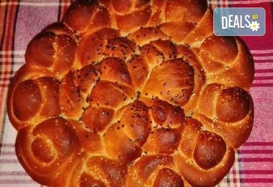 Погача за празници! Голяма обредна погача, или както нашите баби я наричат пита - обреден хляб с орнаменти от Работилница за вкусотии Рави! - Снимка 3