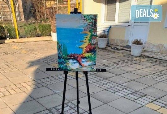 Рисуване и вино сред природата! 3 часа рисуване на тема Танц на лунна светлина на 31.05. (неделя) + чаша вино и минерална вода от Арт ателие Багри и вино - Снимка 6
