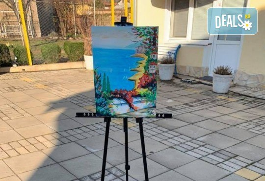 Романтика на 24-ти май! 3 часа рисуване на открито на тема Париж, с напътствията на професионален художник + чаша вино и минерална вода в Арт ателие Багри и вино - Снимка 8