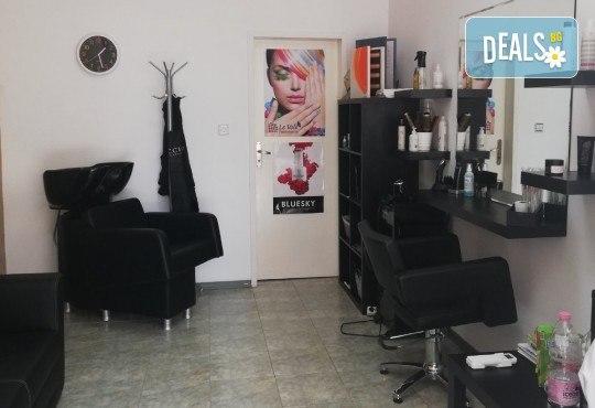 Боядисване с боя на клиента или професионална боя Elgon и оформяне на прическа със сешоар - прав или букли, в Студио за красота Vanity - Снимка 13