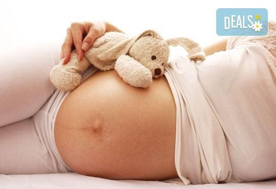 Подарък за бъдещата мама! Релаксиращ масаж за бременна жена с етерични натурални масла от алое, лайка или ароматен жасмин в SPA център Senses Massage & Recreation! - Снимка 1