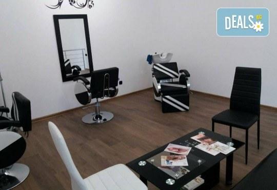 Нова прическа! Боядисване с боя на клиента и оформяне на прическа със сешоар в салон за красота Bibi Fashion - Снимка 6