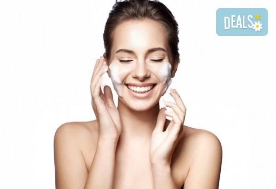 Чиста кожа! Мануално почистване на лице с професионална медицинска козметика в студио Нимфея - Снимка 3