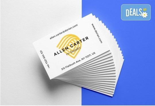 Изработка на визитки на луксозен картон от Хартиен свят