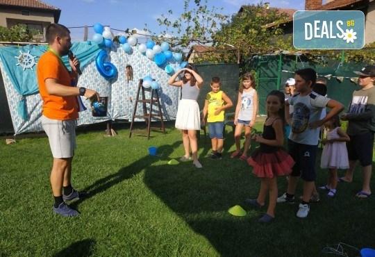 Футболно парти за детски рожден ден с много забавни игри на отбори, професионален треньор и музикална апаратура от Детски център Щастливи деца - Снимка 10